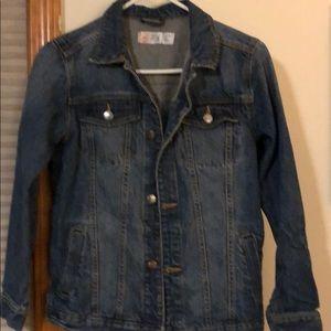 Kids denim jacket size large